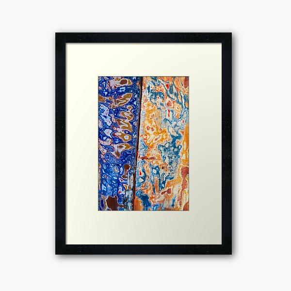 Rust Patterns Framed Art Print