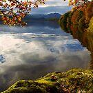 Autumn on Loch Achray, Scotland by David Alexander Elder