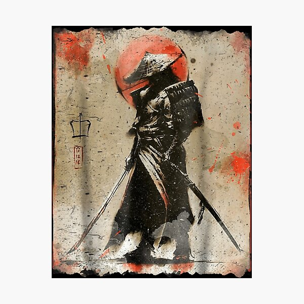 Samurai Japanese Retro Art Print Bushido  Photographic Print