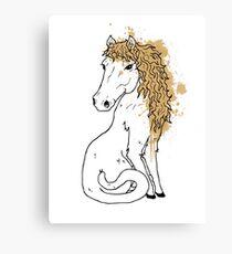 Horsecat Canvas Print