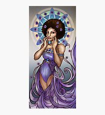 Astrid in Asters Art Nouveau Photographic Print
