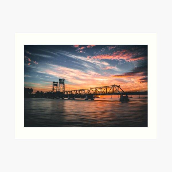 Batemans Bay Bridge Sunrise Art Print