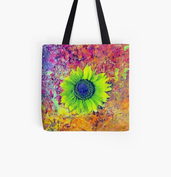 Abstract sunflower All Over Print Tote Bag