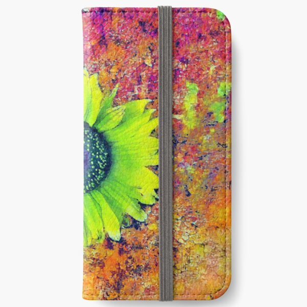 Abstract sunflower iPhone Wallet