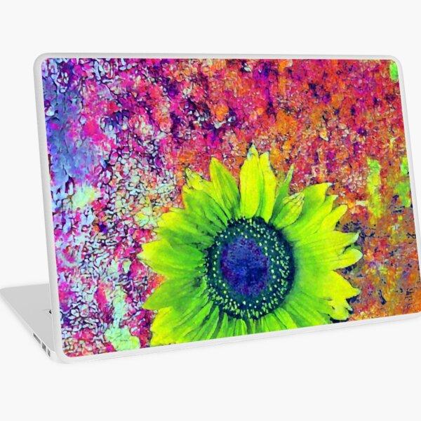 Abstract sunflower Laptop Skin