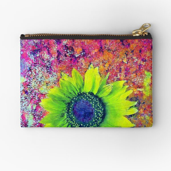 Abstract sunflower Zipper Pouch