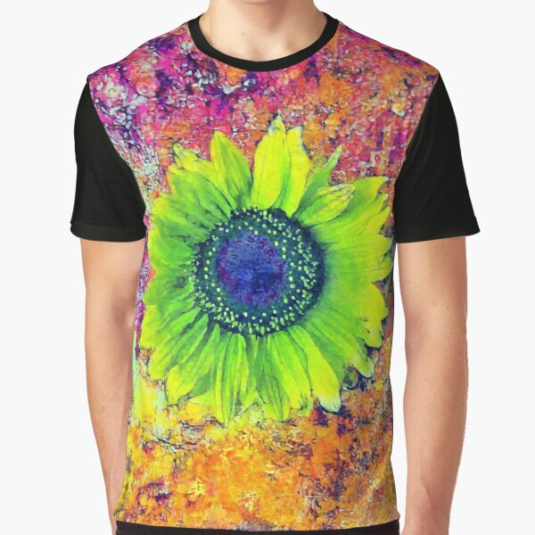 Abstract sunflower Graphic T-Shirt