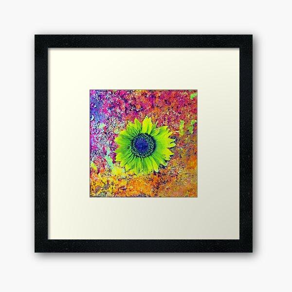 Abstract sunflower Framed Art Print