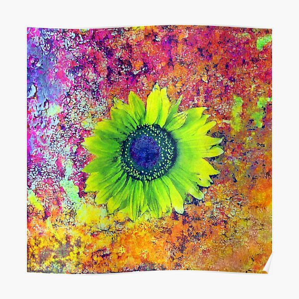 Abstract sunflower Poster