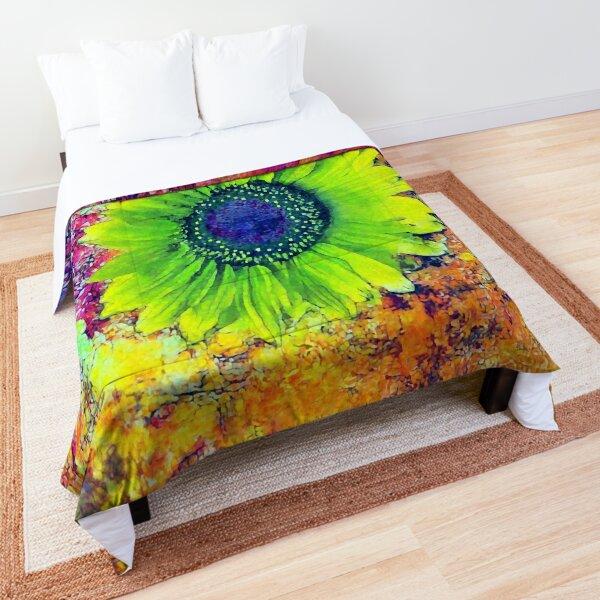 Abstract sunflower Comforter
