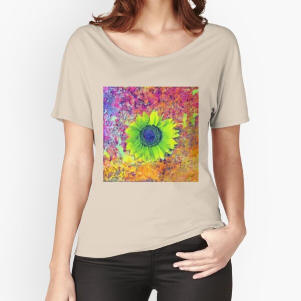 Abstract sunflower Relaxed Fit T-Shirt