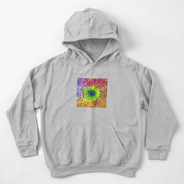 Abstract sunflower Kids Pullover Hoodie