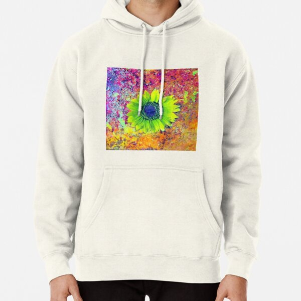 Abstract sunflower Pullover Hoodie