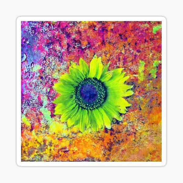 Abstract sunflower Sticker