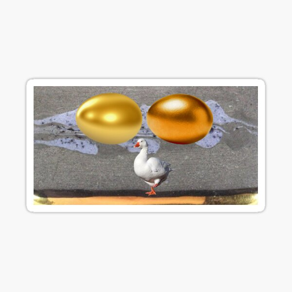 Golden egg Goose Sticker