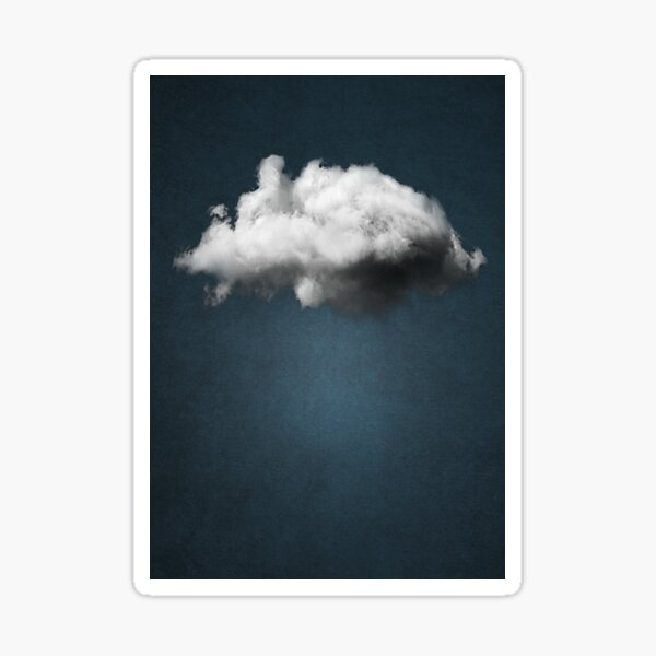 inspiré par les œuvres de Renè Magritte. Sticker
