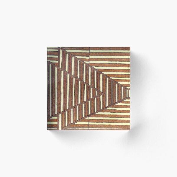 Encaustic Art Image Untitled 040504 Acrylic Block