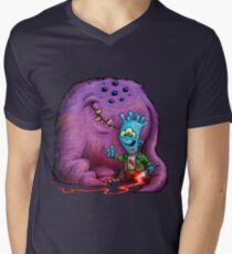 A boy and his Grogg Men's V-Neck T-Shirt