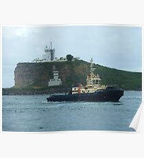 Tugs returning to port Poster