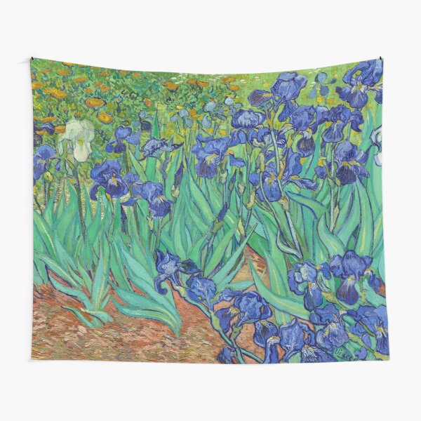 Irises HD (1890) by Vincent Van Gogh Tapestry