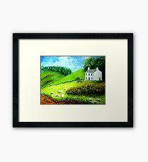 Farmhouse in Scotland or Northern Ireland Framed Print