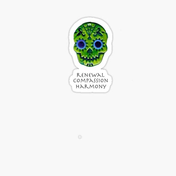 Affirmation Skull: Green Sticker
