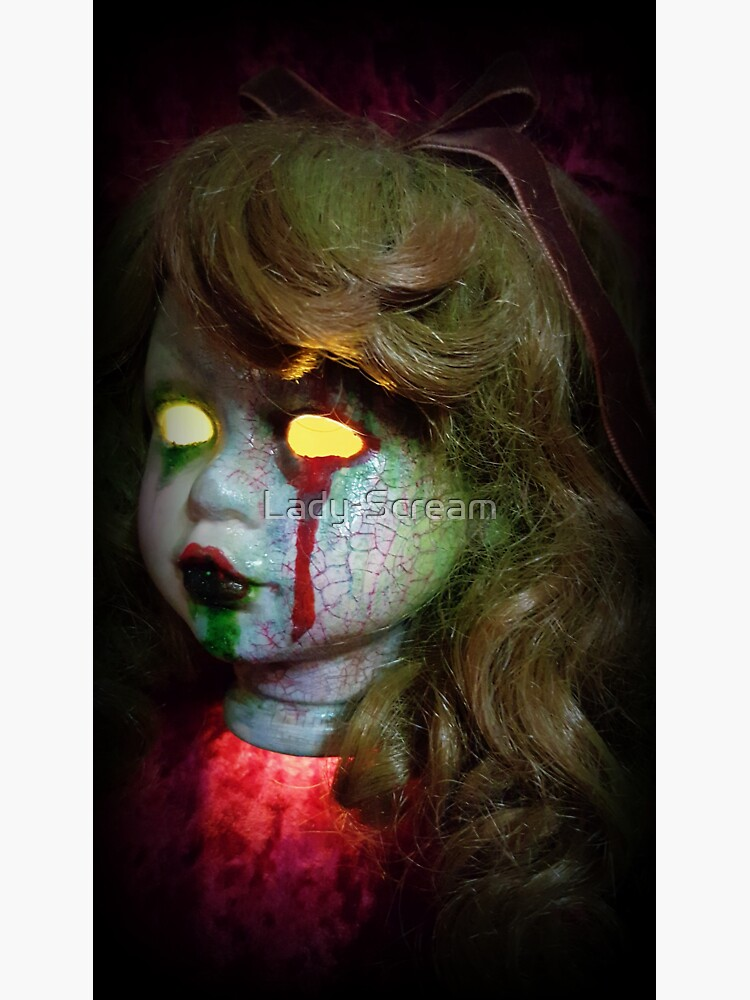 Lady Scream Zombie Horror Doll Head Light by Lady-Scream
