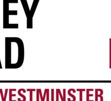 Abbey Rd London Road Sign Die Cut Sticker Sticker
