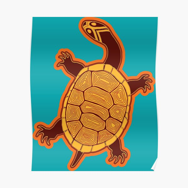 Bayaderra (Long necked Turtle) Poster
