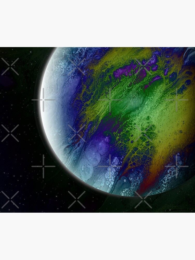 Planet Beta: Outer Space Planet Art by kerravonsen