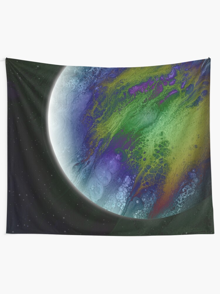 Alternate view of Planet Beta: Outer Space Planet Art Tapestry