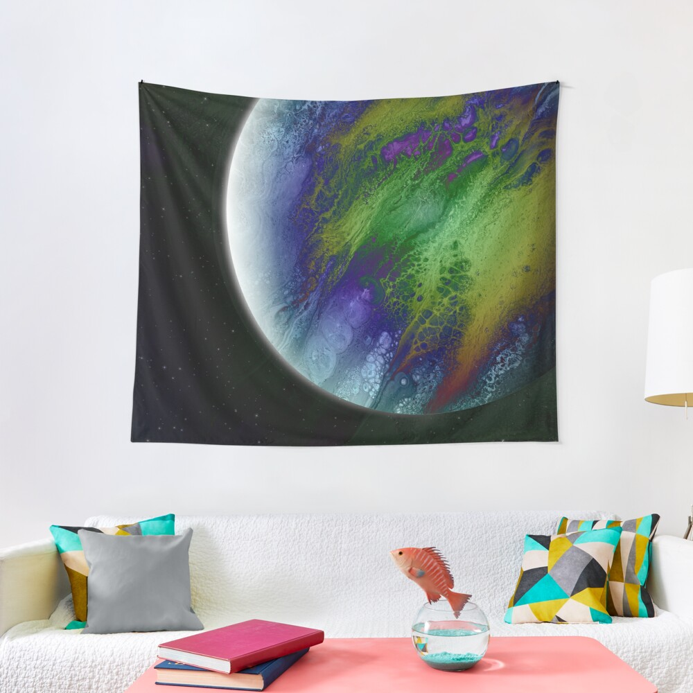 Planet Beta: Outer Space Planet Art Tapestry