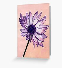 Sue's White and Purple Flower Greeting Card