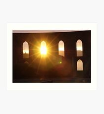 Sunset through the....arched window! Art Print