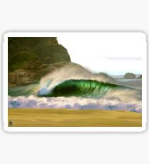 Praia grande BR Sticker