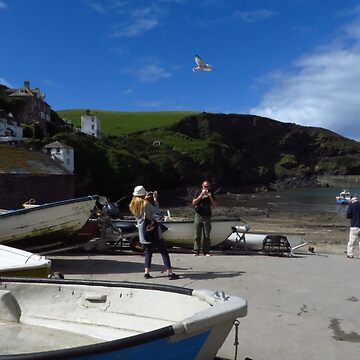 Port Isaac, A Typical Cornish Scene by wiggyofipswich