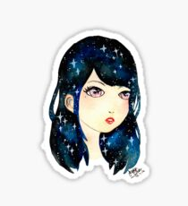 Starry-eyed in space  Sticker