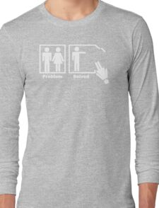 NEW Problem Solved funny T-SHIRT crazy marriage gag humor tee Long Sleeve T-Shirt