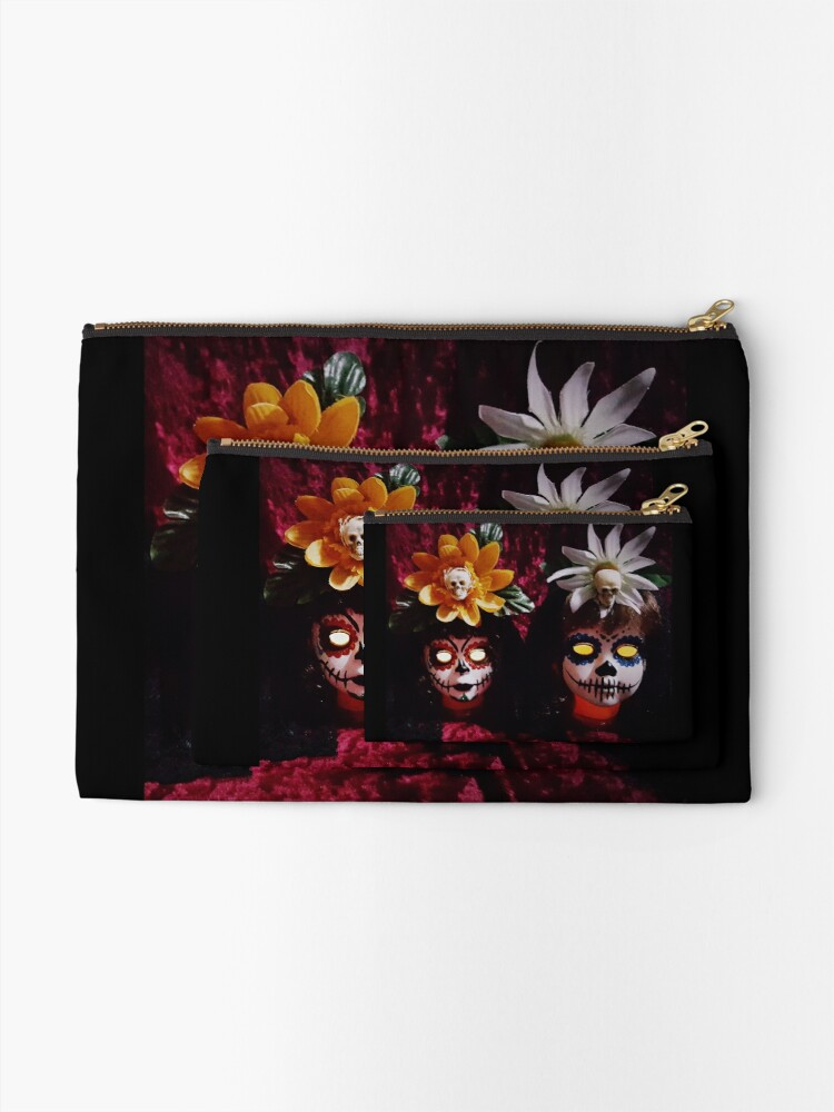Alternate view of Day Of The Dead Dolls ~ Lady Scream Zipper Pouch