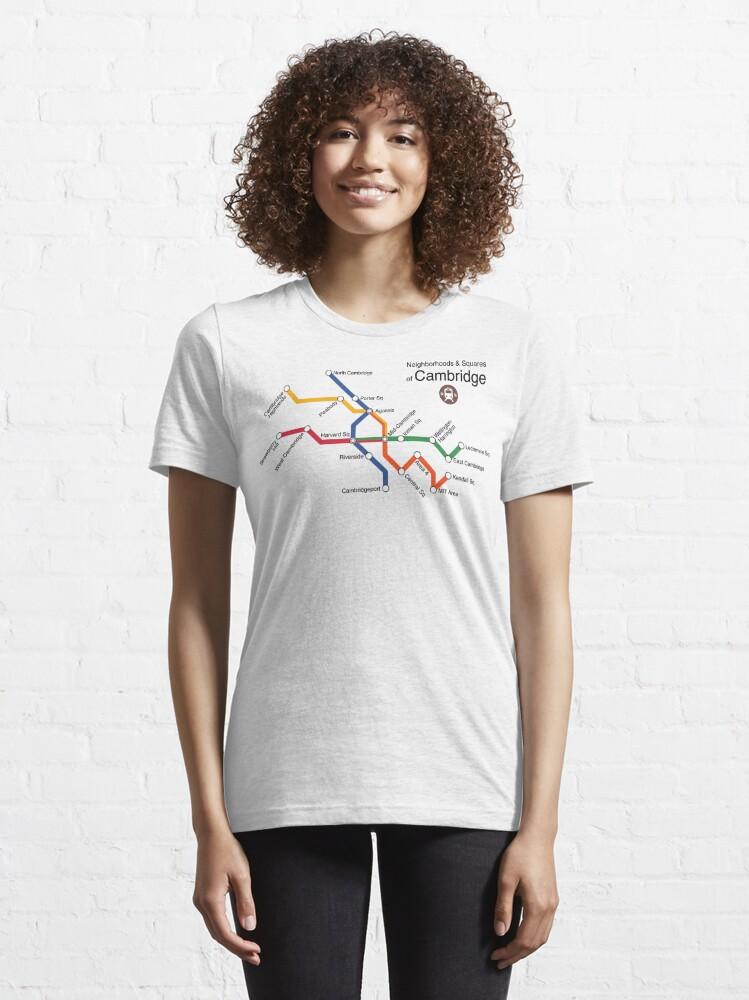 Alternate view of Neighborhoods & Squares of Cambridge Essential T-Shirt
