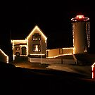 Nubble Light at Christmas by Sevastra