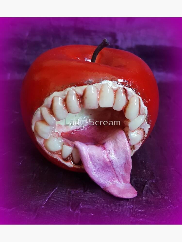 Horror Apple Sculpture ~ Lady Scream  by Lady-Scream
