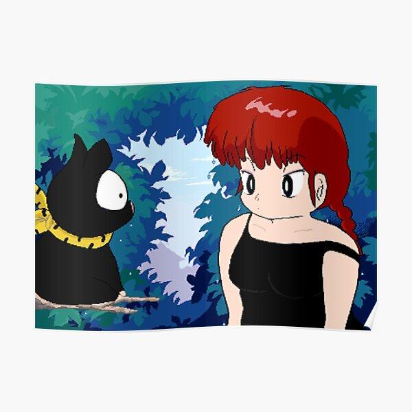 Ranma and PChan Pixel Art Poster