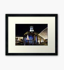 Christmas Lights, Gallery of Modern Art, Glasgow Framed Print