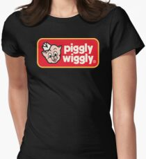Piggly Wiggly T-shirt retro 70's 80's vintage country 100% cotton graphic tee Womens Fitted T-Shirt