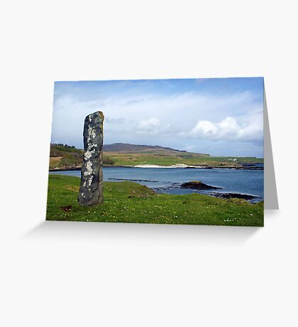 Standing Stone on the Isle of Eigg, Scotland Greeting Card