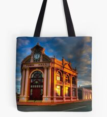 York Town Hall at sunset Tote Bag