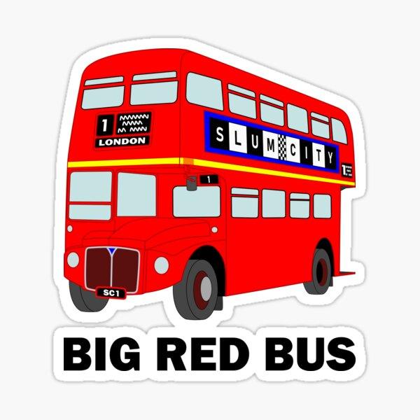Big Red London Bus Sticker