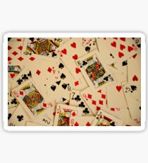 Scattered Pack of Playing Cards Hearts Clubs Diamonds Spades Pattern Sticker
