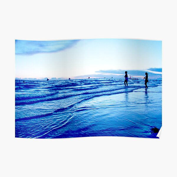 welcoming the sea at ebb tide Poster